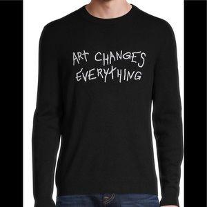 ZADIG & VOLTAIRE Graphic Cashmere Sweater Size M
